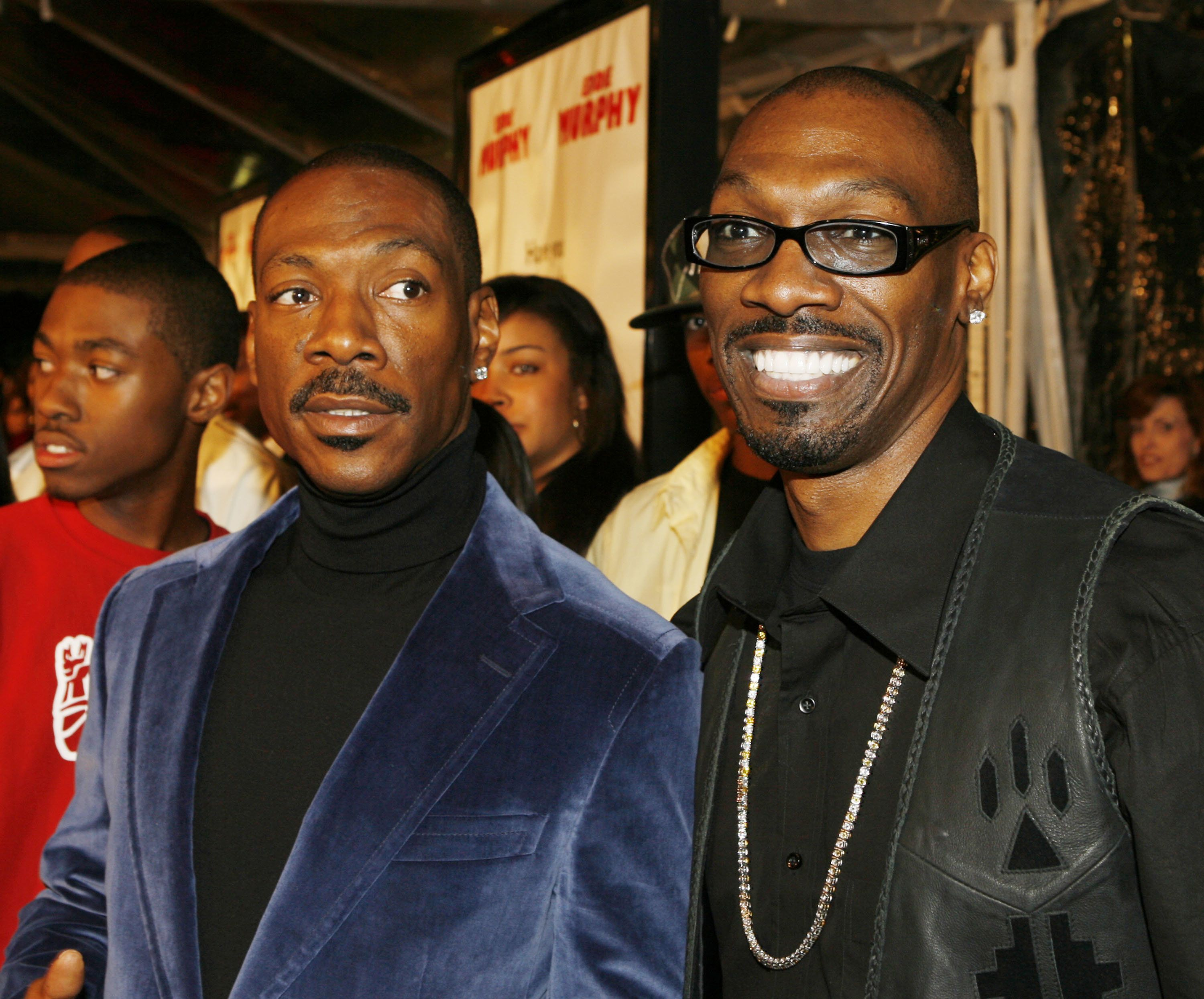 Eddie Murphy (left) with his brother