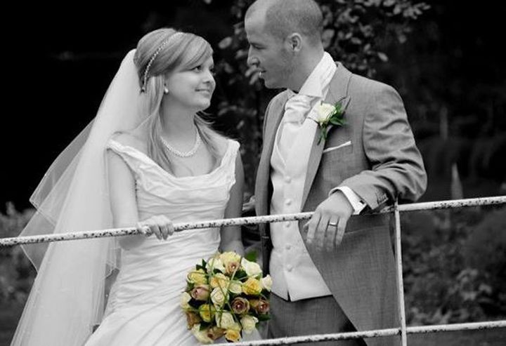 Andrea and Alistair on their wedding day in May 2011.