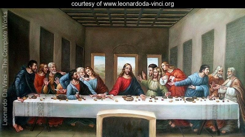 Jesus and his disciples, <em>The Last Supper</em> painted by Leonardo Da Vinci (1498)