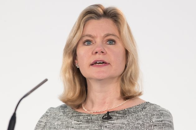 Justine Greening was given a grilling by Charlie Stayt over grammar