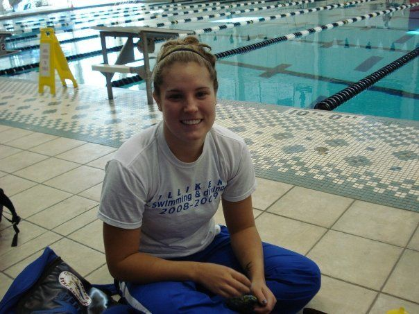 Tarah Walsh swam competitively in high school and college.