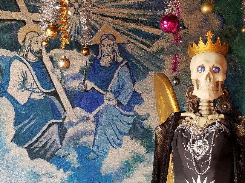 Santa Muerte at a shrine in Santa Ana Chapitiro, Mexico