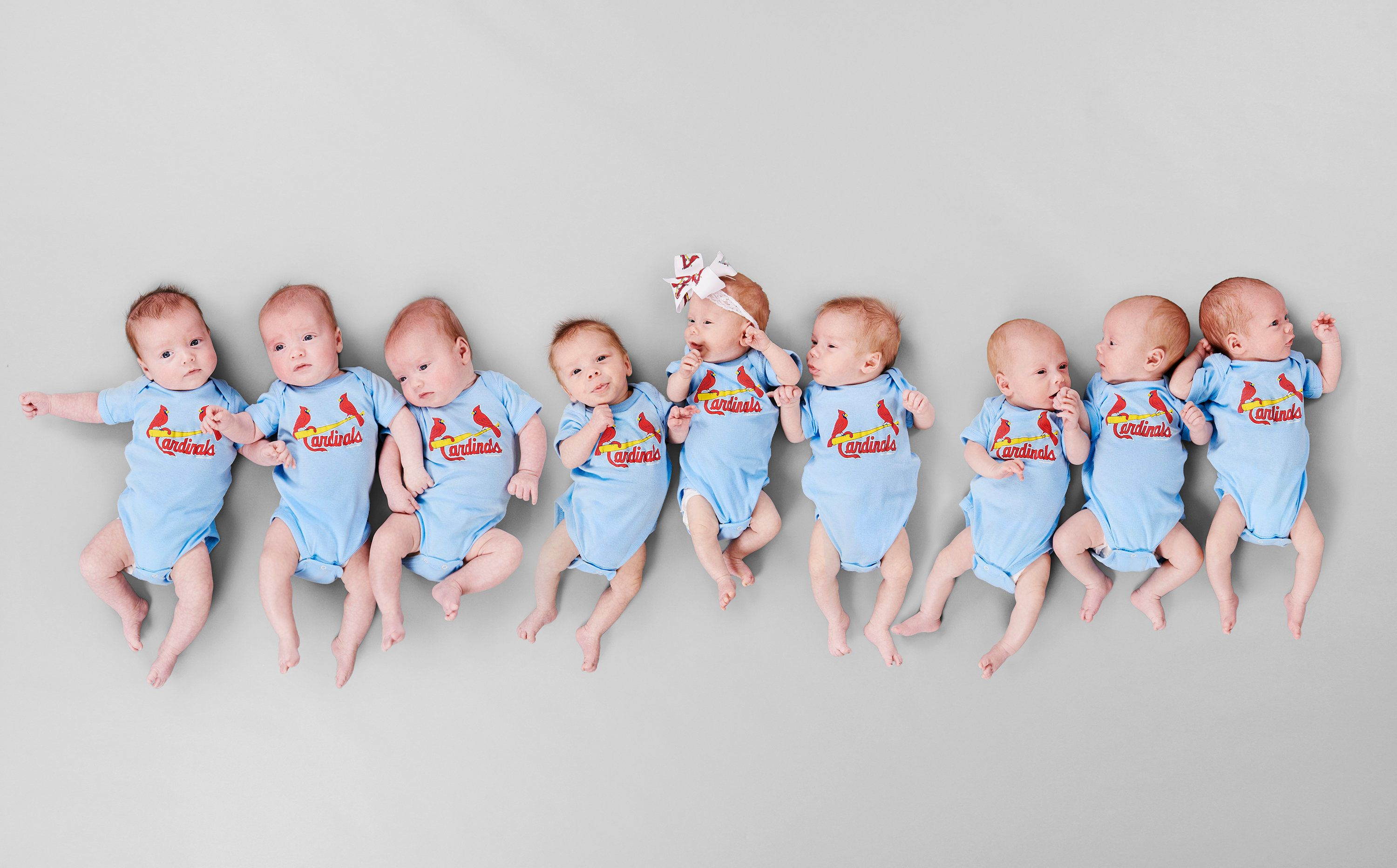 All nine babies and three mothers are healthy and home with their families now.