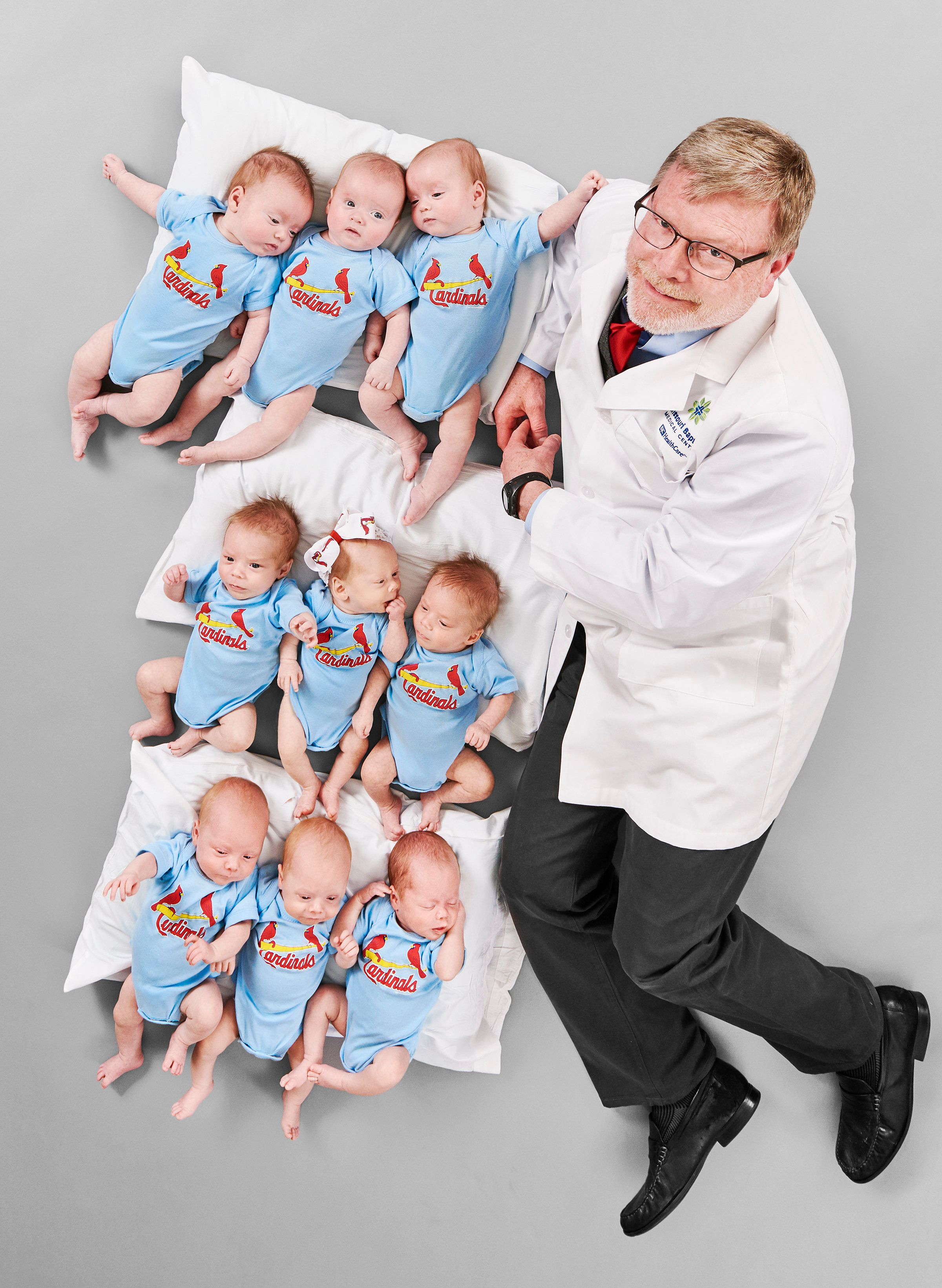 Dr. Michael Paul delivered three sets of triplets in six weeks.