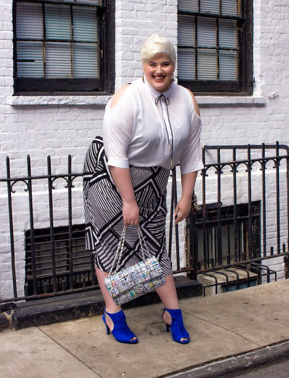 Blouse, £23, skirt £17, from Yours
