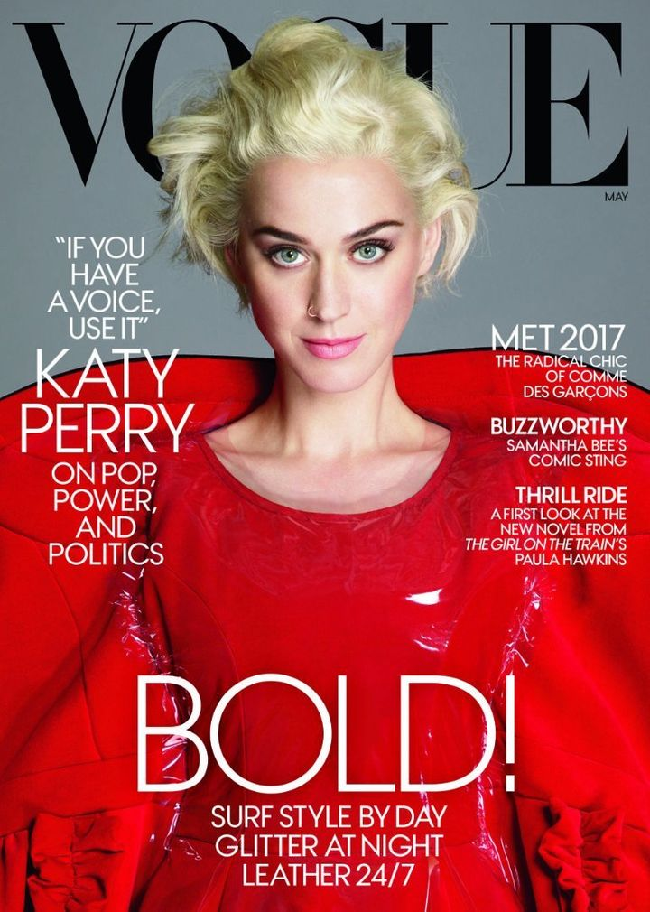 Katy Perry covers Vogue's May issue.