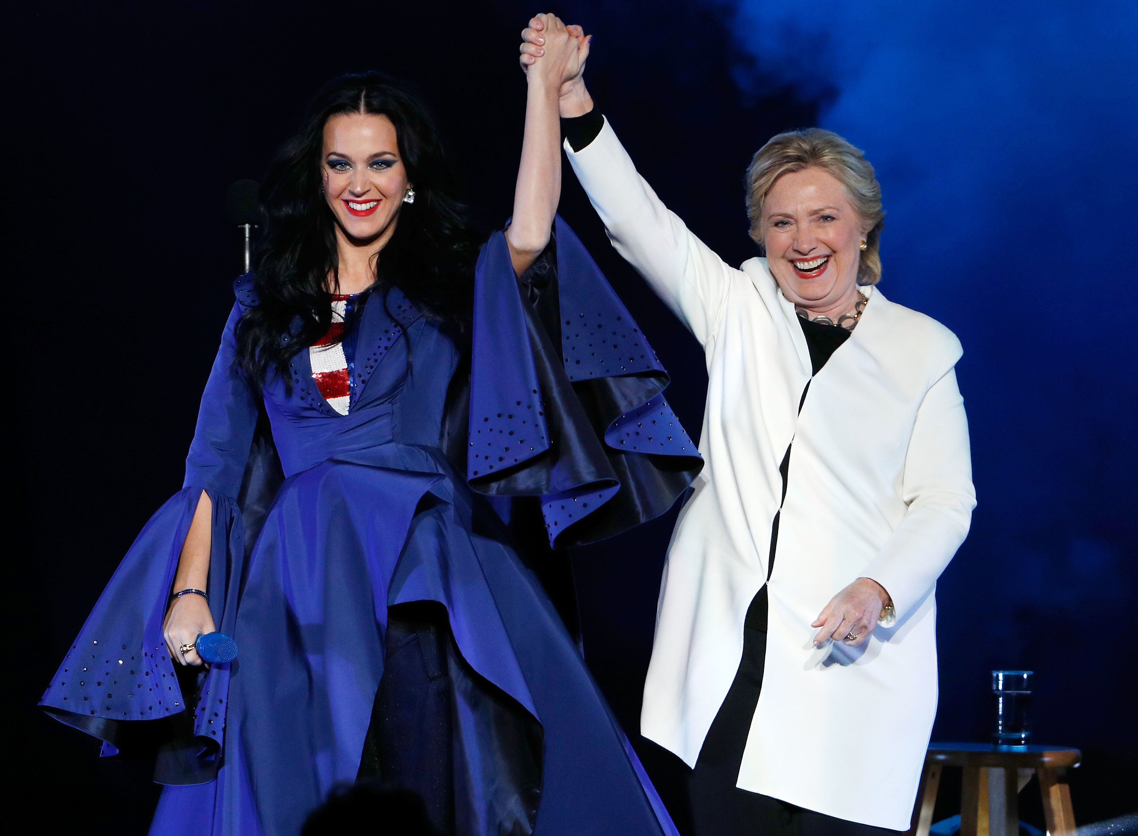 Katy Perry performs with Hillary Clinton at a rally in November.