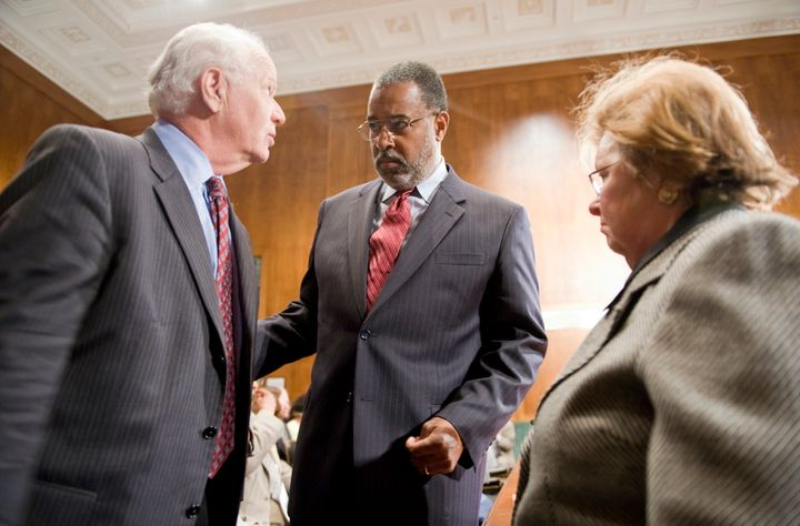 Judge Andre Davis, center, has been a federal judge since 1995.