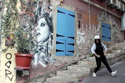 <em>Screen shot of Beirut b-boying</em>