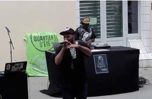<em>Screen shot of Palestinian rapper Osloob (Style)</em>