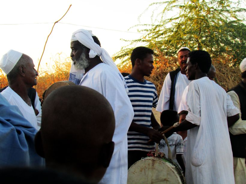 Sunset Sufi ceremony in Sudan