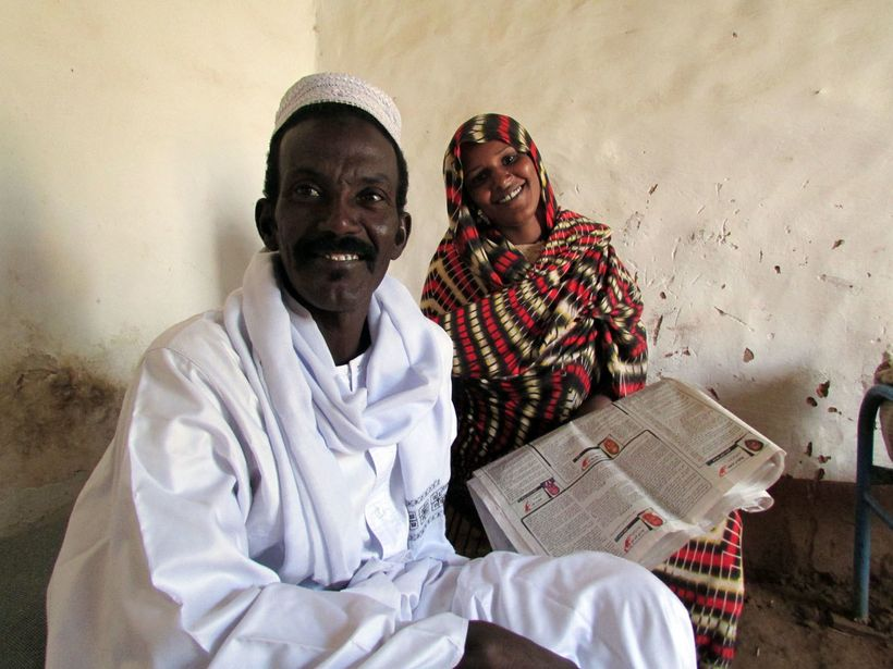 At home with Abdul Hafiz and his wife in Sudan