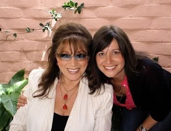 Tiffany Lerman with her mother, Jackie Collins