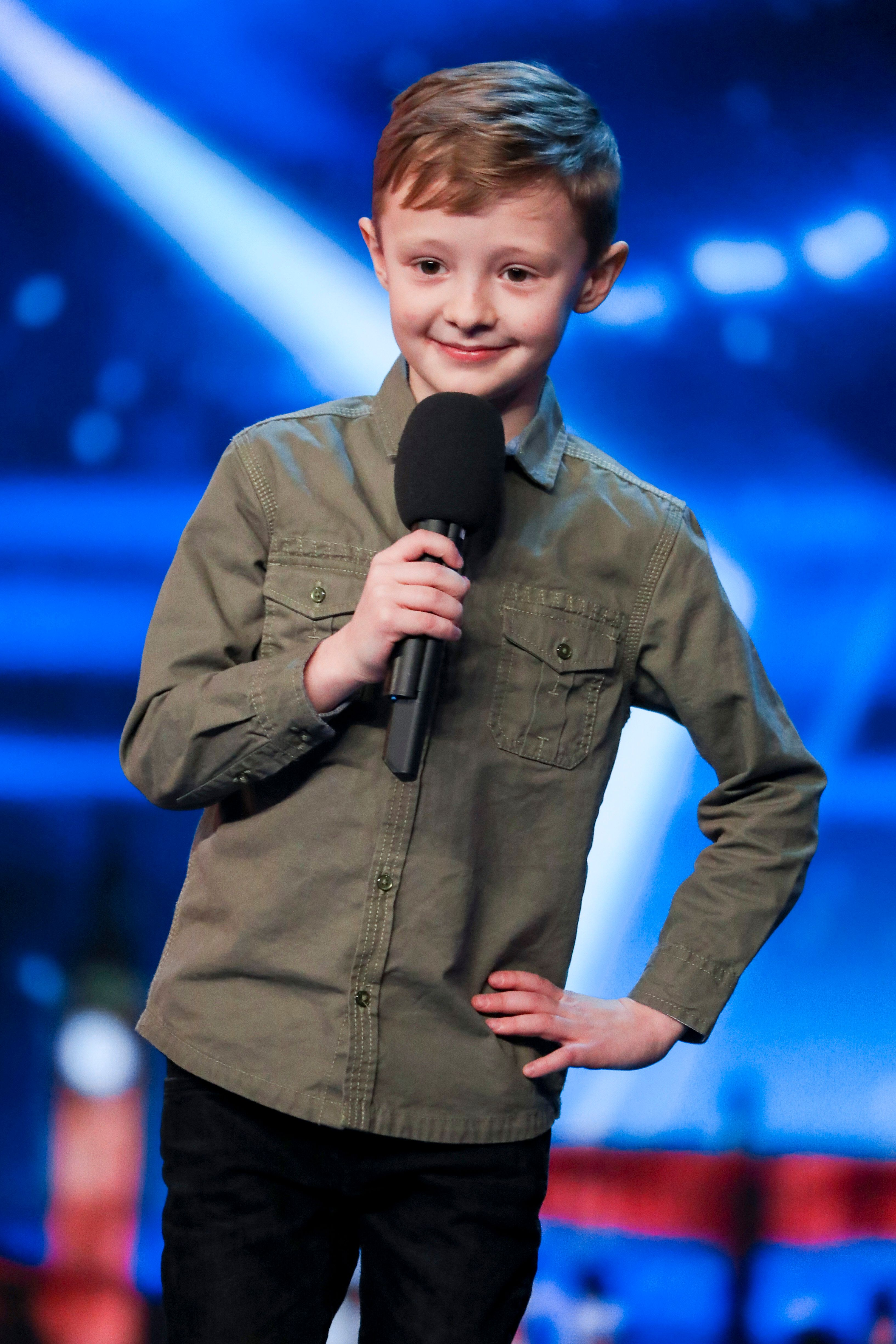 Eight-year-old Ned Woodhouse auditions for 'Britain's Got