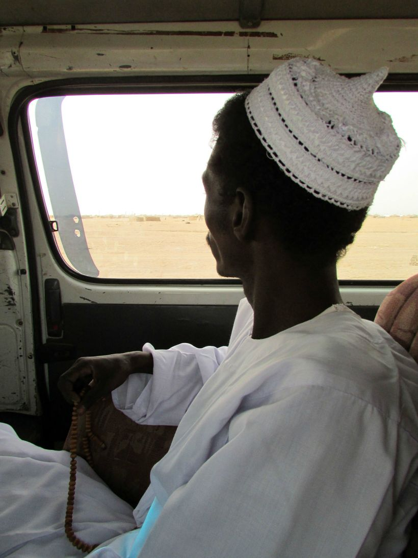Sufi caravan through the sands of Sudan