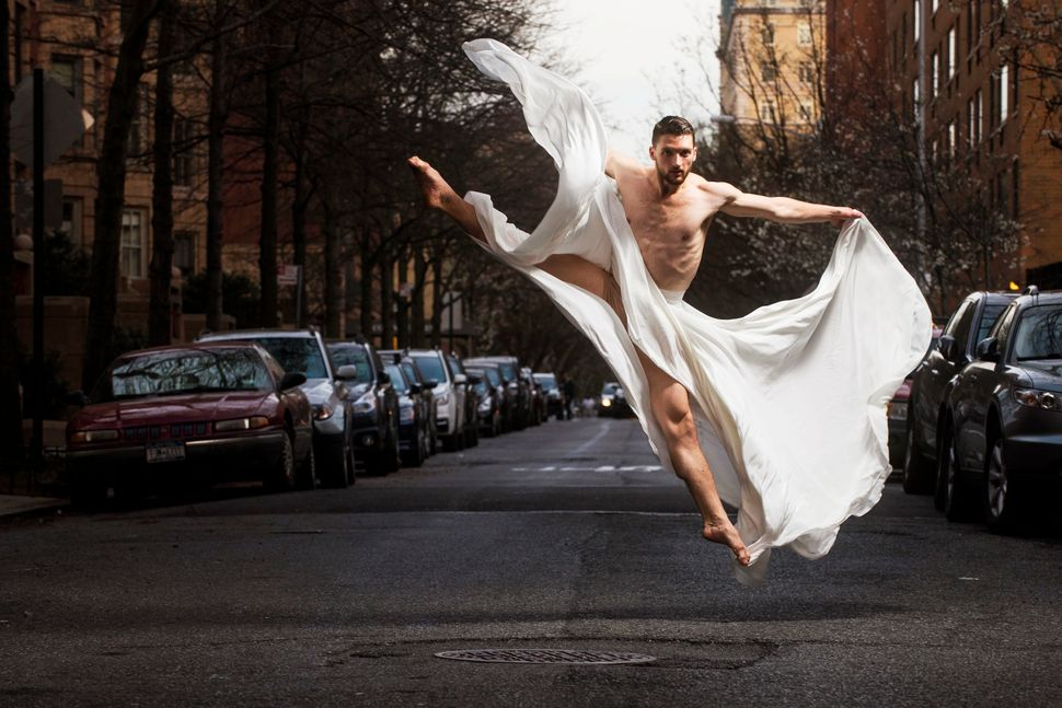 Ballet Hispánico dancer Christopher Bloom, pictured on 89th Street in Manhattan, is from Middletown, Virginia.