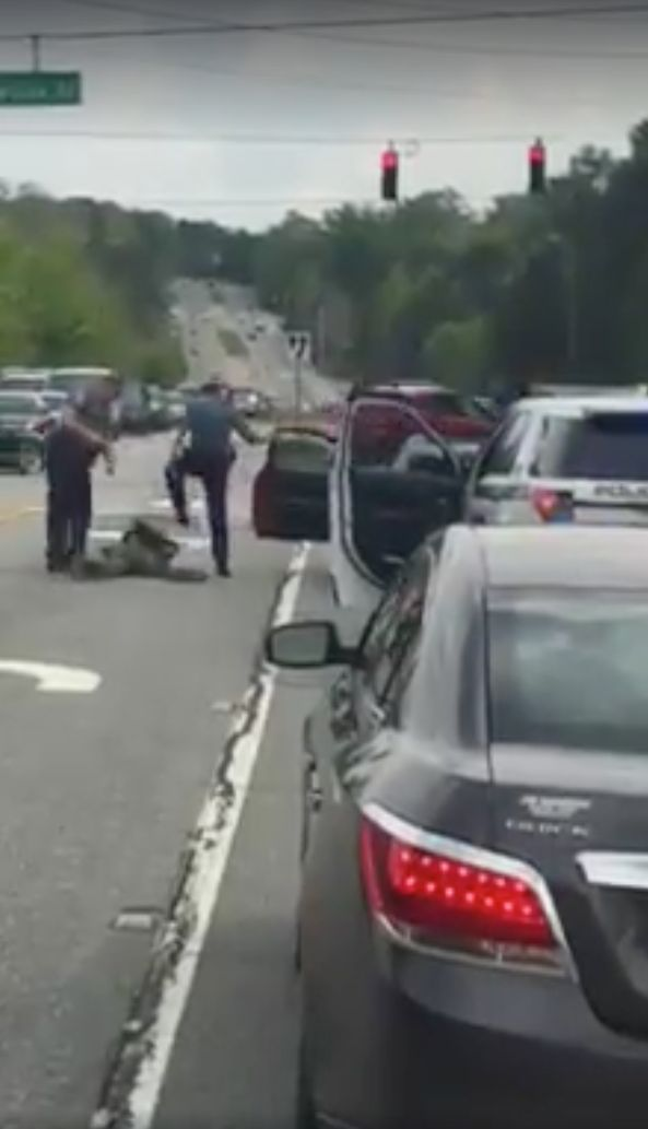 Bystander video taken Wednesday in Georgia shows a police officer appearing to stomp on a handcuffed suspect's head. The&nbsp