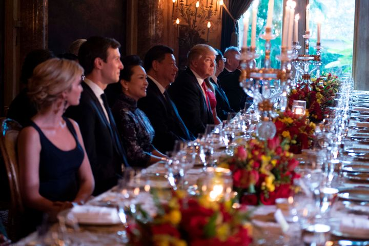 Donald Trump and Chinese President Xi Jinping haddinner at Mar-a-Lagolast Thursday.