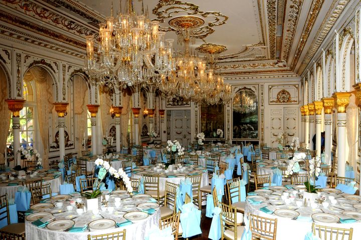 A ballroom of the Mar-a-Lago club, where membership fees run $200,000 per year.