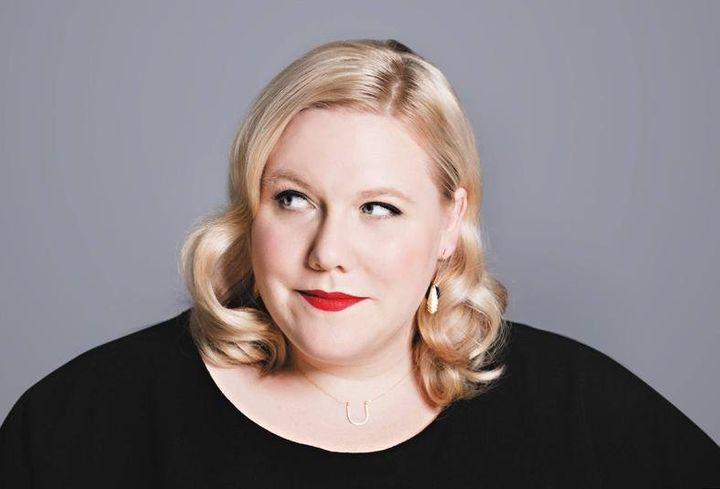Lindy West on the paperback cover of her memoir,&nbsp;<i>Shrill</i>.