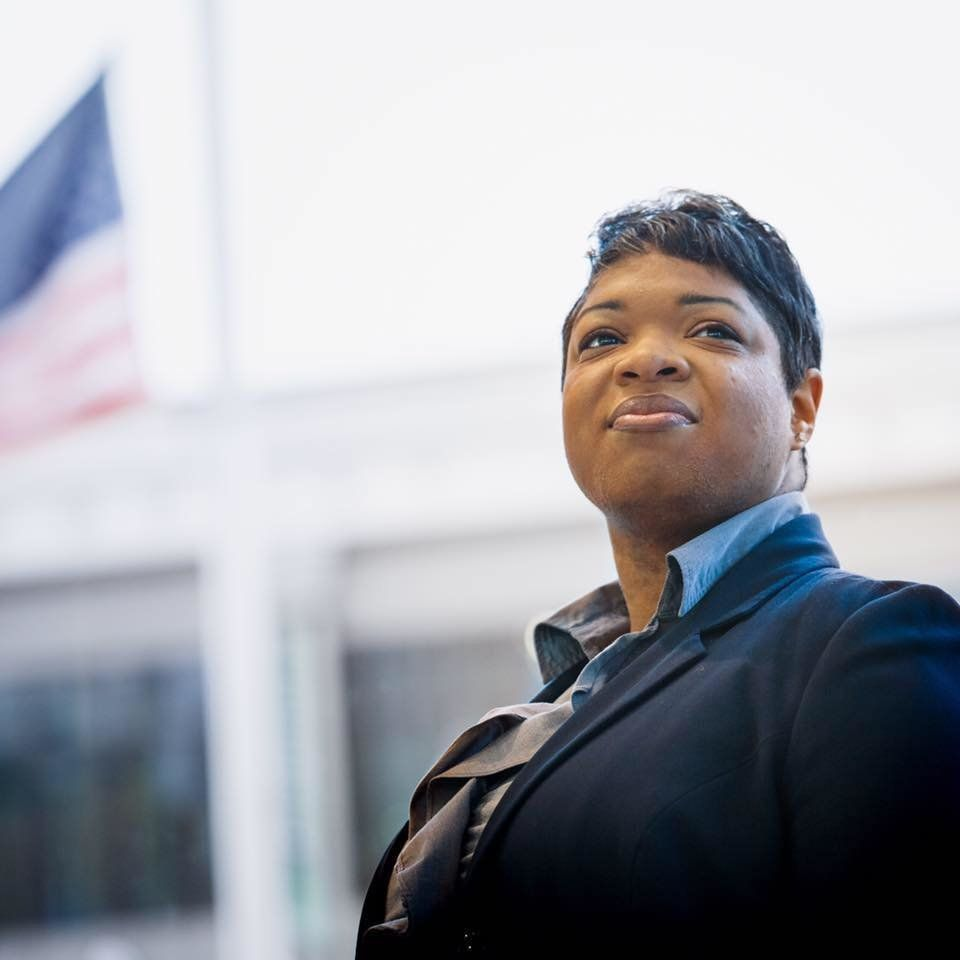 Chemberly Cummings won her race for Normal Town Council
