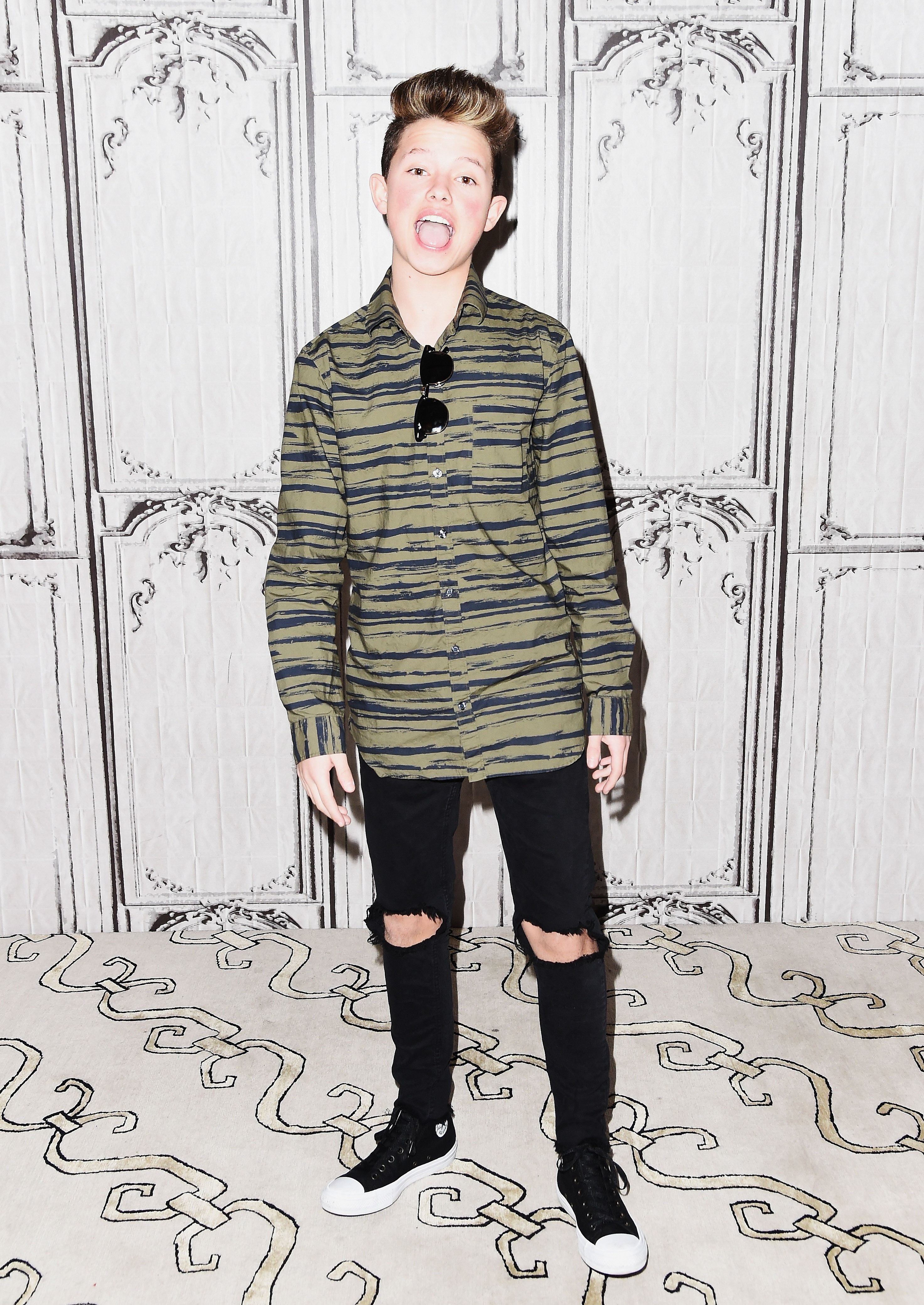 NEW YORK, NY - JANUARY 10:  YouTube Sensation Jacob Sartorius attends the Build Presents Discussing his new album 'The Last Text World Tour' at AOL HQ on January 10, 2017 in New York City.  (Photo by Nicholas Hunt/Getty Images)