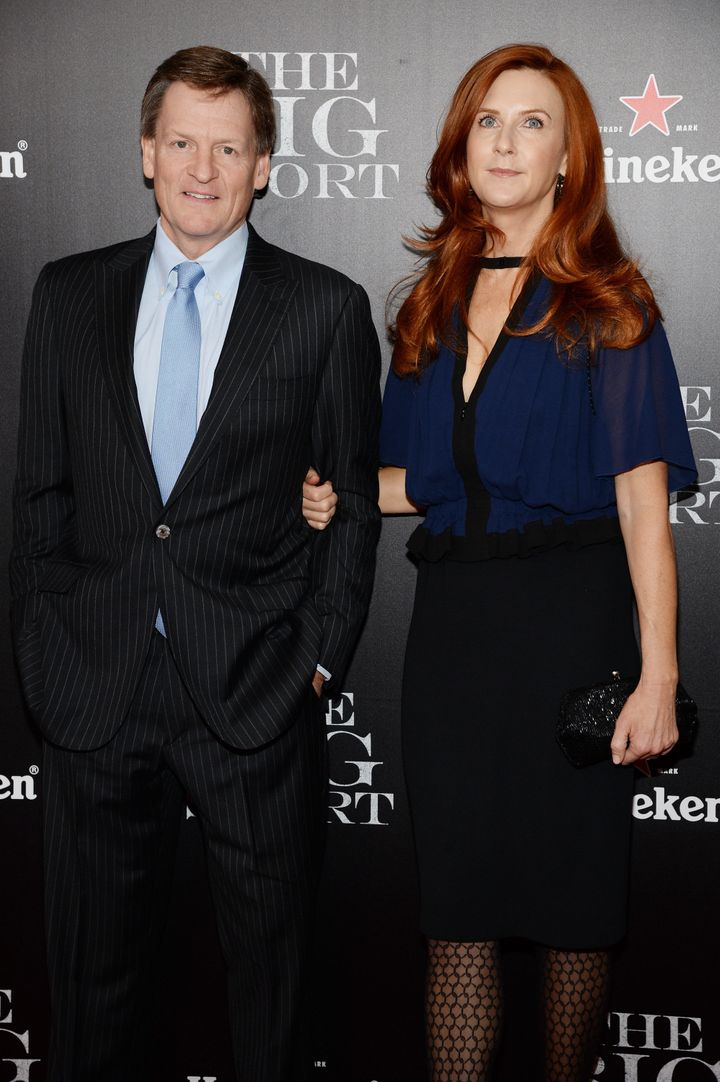 Michael Lewis and his current wife, Tabitha Soren, a photographer and former MTV VJ.