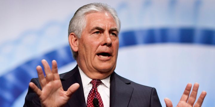 Former Exxon Mobil CEO and current Secretary of State Rex Tillerson. Not that there's a conflict of interest or anything.