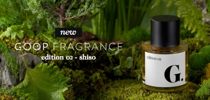 Shiso perfume on the Goop website