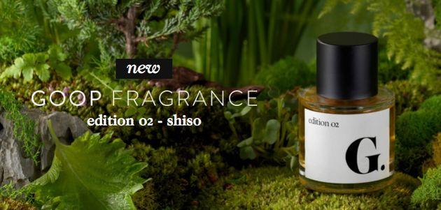 Shiso perfume on the Goop