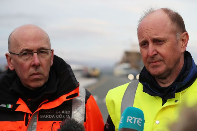 Gerard O'Flynn (left) Search and Rescue Operations manager with the Irish Coast Guard and Chief Inspector...