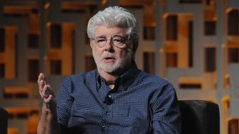 ORLANDO, FL - APRIL 13:  George Lucas attends the 40 Years of Star Wars panel during the 2017 Star Wars Celebration at Orange County Convention Center on April 13, 2017 in Orlando, Florida.  (Photo by Gerardo Mora/Getty Images for Disney)