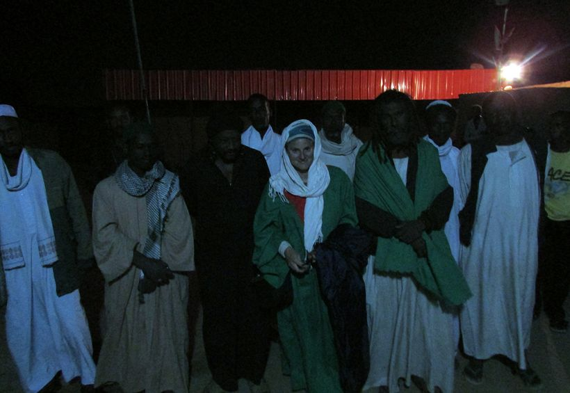 Night-time Sufi caravan in Sudan