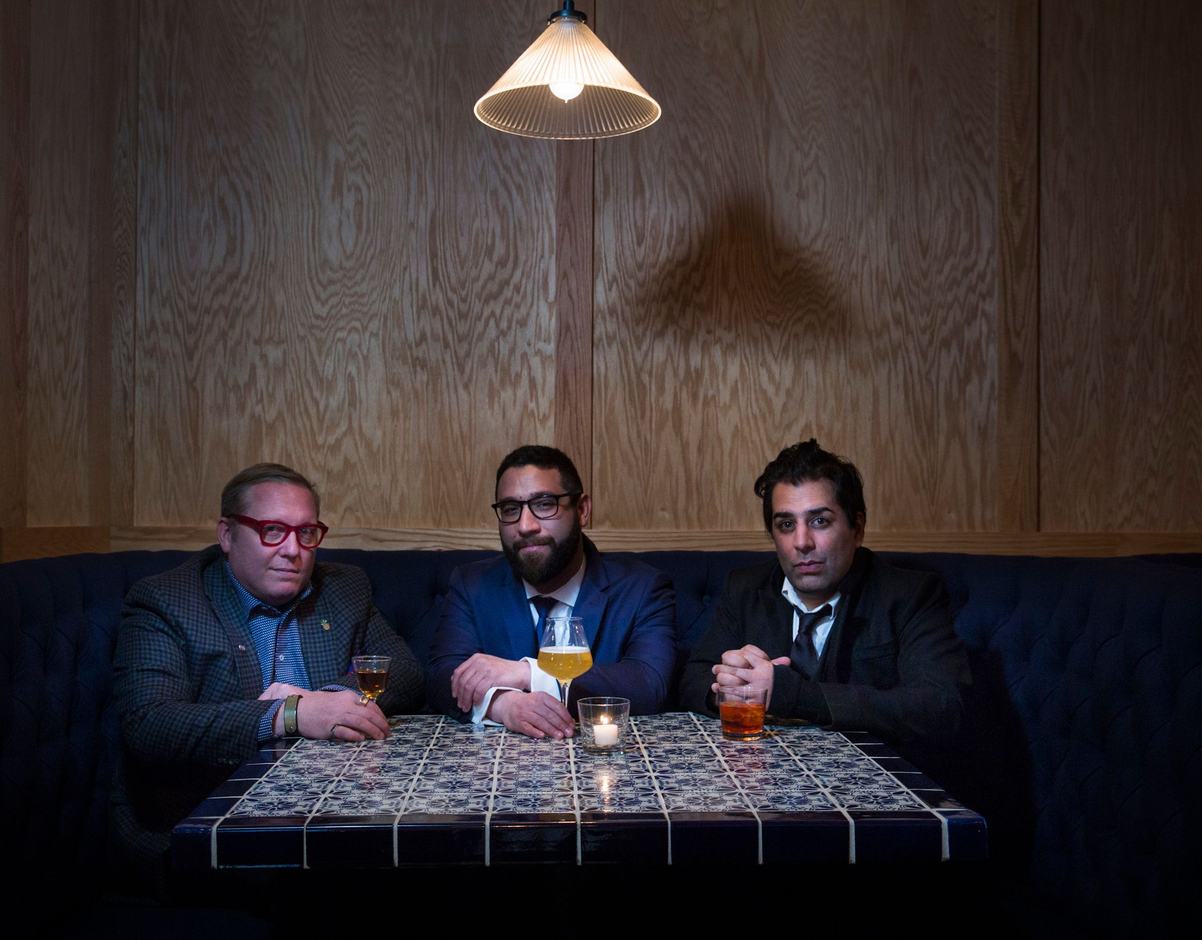 Ravi DeRossi, Sother Teague, and Max Green are opening aTrump protest themed bar near Cooper Union.
