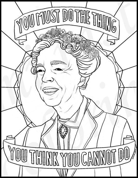 Coloring Page Maya Angelou. Eleanor Roosevelt 21 Printable Coloring Sheets That Celebrate Girl Power  HuffPost