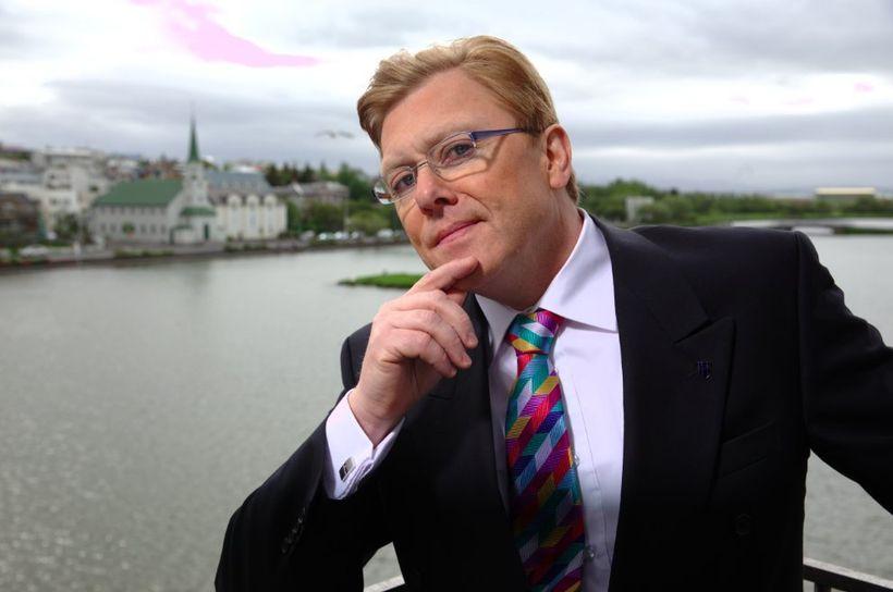 Jón Gnarr, former Mayor of Reykjavík, as the mayor in his TV show, The Mayor
