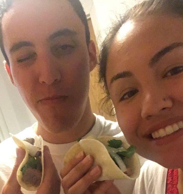 Just two delish tacosin love.