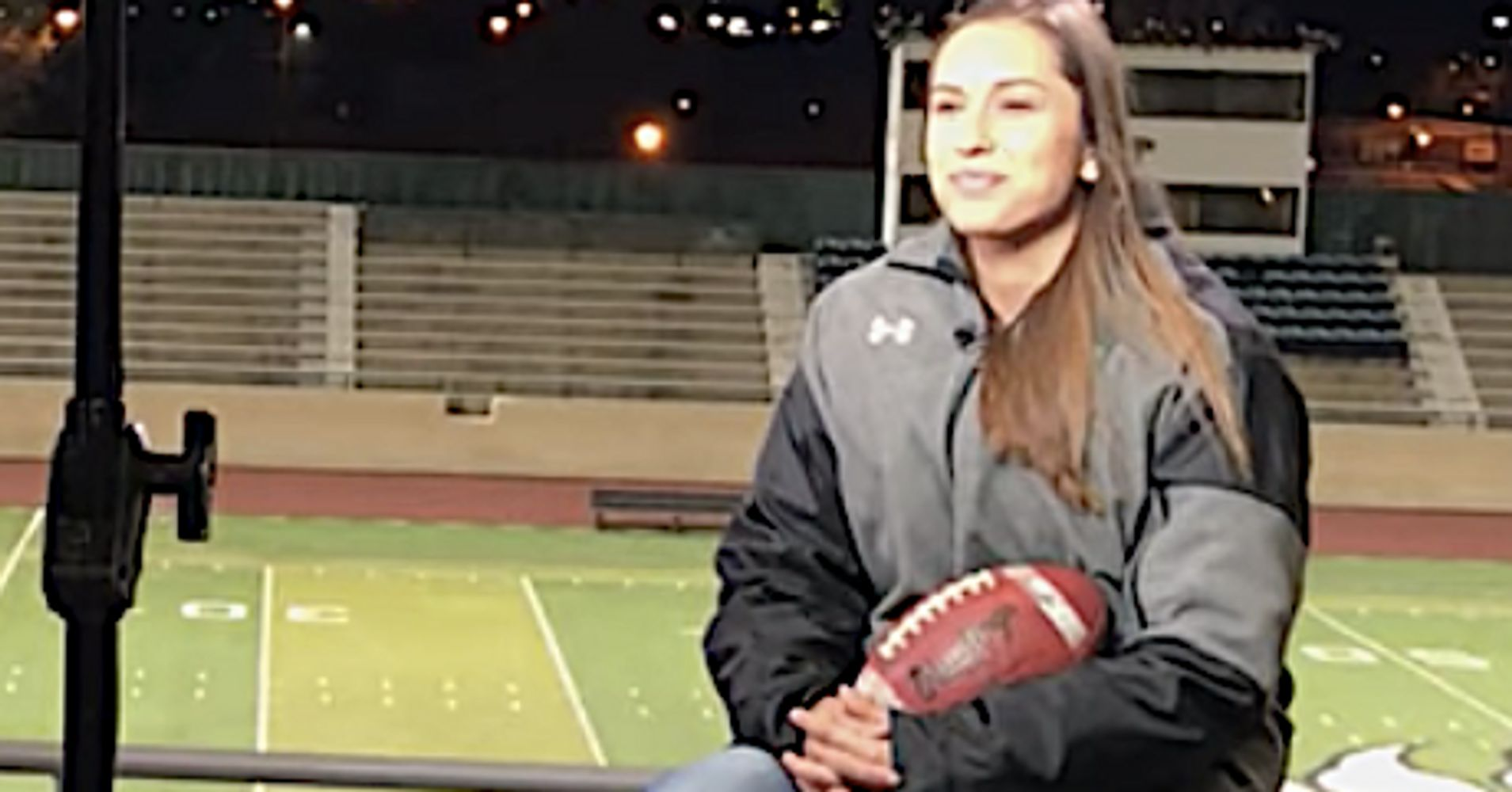 becca longo makes history by earning college football