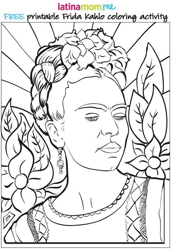 Coloring Page Maya Angelou. Frida Kahlo 21 Printable Coloring Sheets That Celebrate Girl Power  HuffPost