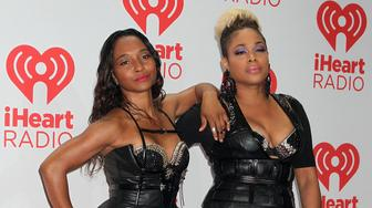 TLC (Chilli, TBoz) attending the iHeart Radio Music Festival in Las Vegas, Nevada.