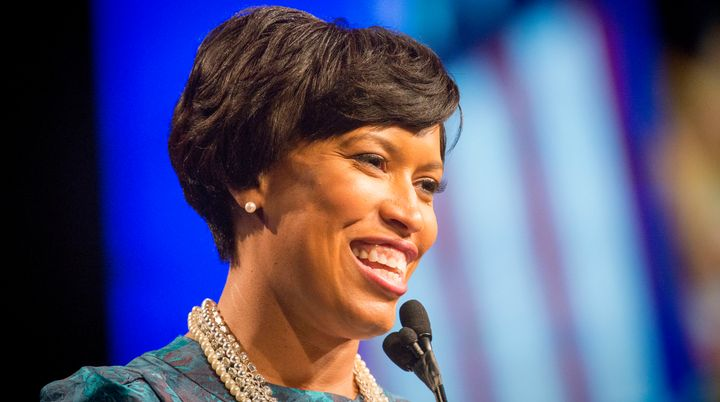 Mayor Muriel Bowser delivers her inaugural speech on January 2, 2015.