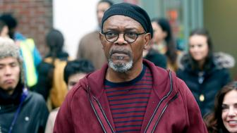 NEW YORK, NY - MARCH 27:  Samuel L. Jackson filming a cameo in Dan Fogelman's 'Life Itself' on March 27, 2017 in New York City.  (Photo by Steve Sands/GC Images)