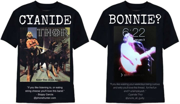 The original shirt (left) and the redesign (right)