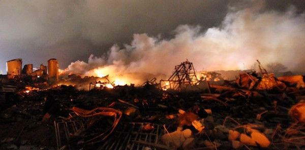 The 2013 fertilizer plant explosion in West, Texas, killed 15 Americans and injured 160 more.