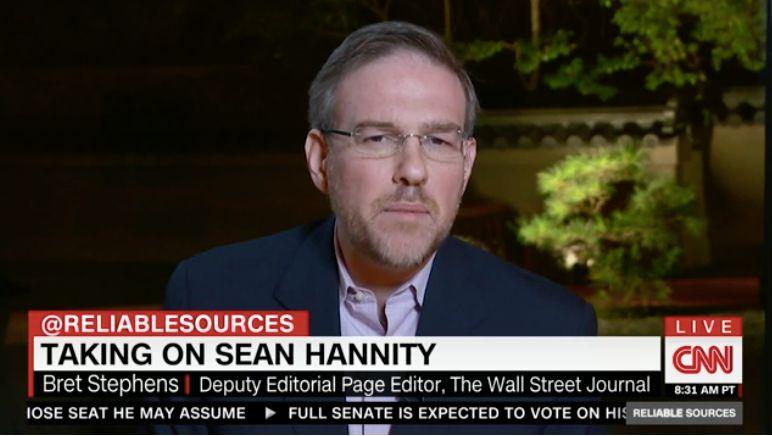 New New York Times columnist Bret Stephens appearing on CNN