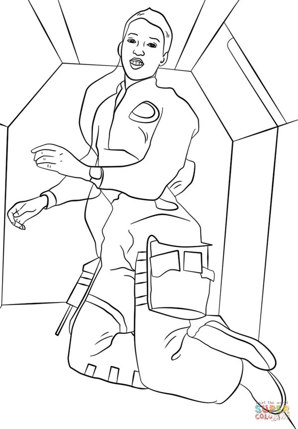21 printable coloring sheets that celebrate girl power for Mae jemison coloring page