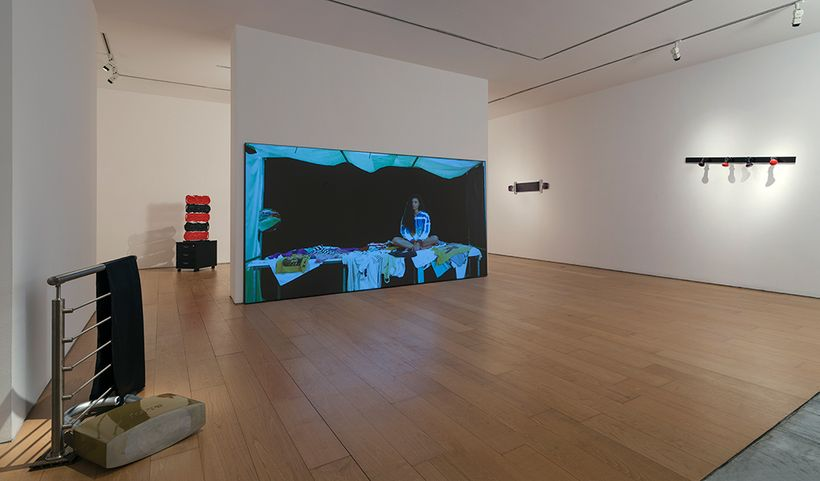 Rallou Panagiotou, Incorporeal Bundles, installation view, Bernier/Eliades, 2017. Courtesy of Bernier/Eliades. Photo: Boris K