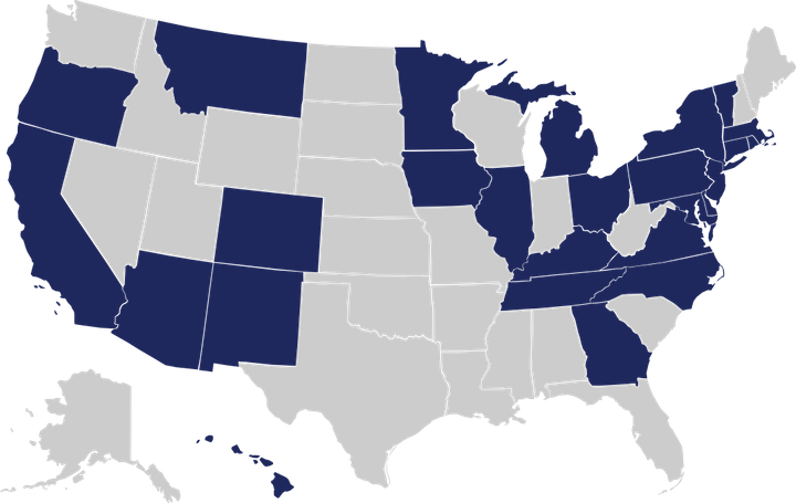 The states in blue have introduced legislation to require presidential candidates to disclose their tax returns in