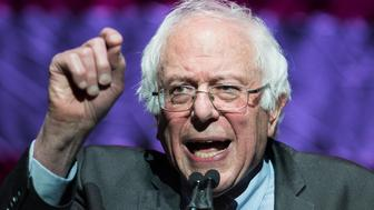 BOSTON, MA - MARCH 31: Former Presidential candidate Senator Bernie Sanders (I-VT) speaks at the Our Revolution Massachusetts Rally at the Orpheum Theatre on March 31, 2017 in Boston, Massachusetts. (Photo by Scott Eisen/Getty Images)