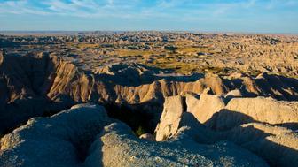 North America, USA, South Dakota, Wall, Badlands National Park, Loop Road, Pinnacles Overlook. (Photo by:  Education Images/UIG via Getty Images)